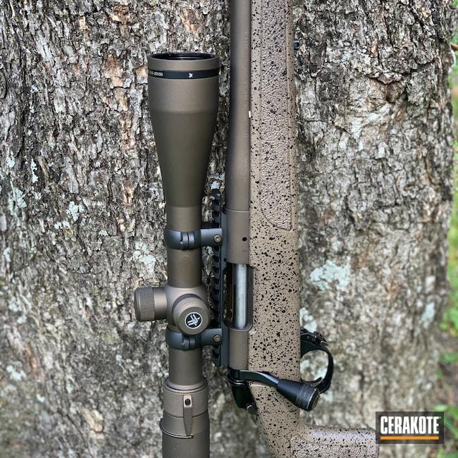 Cerakoted: S.H.O.T,6.5 Creedmoor,Rem 700,Remington,Midnight Bronze H-294,Remington 700