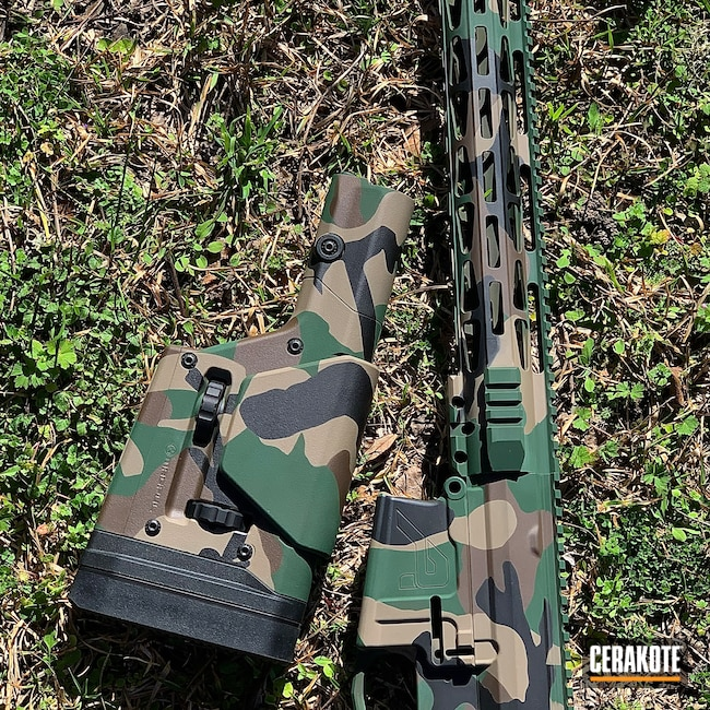 Cerakoted: S.H.O.T,Aero Precision,M81,Graphite Black H-146,AR-10