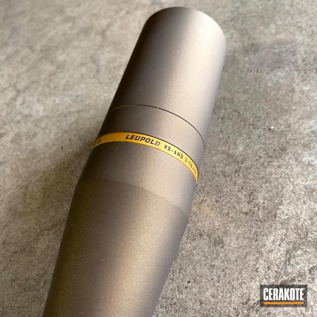 Cerakoted: S.H.O.T,Sporting Equipment,VX-6,Scope,Leupold VX-6HD,Leupold Scope,Burnt Bronze H-148,Optics