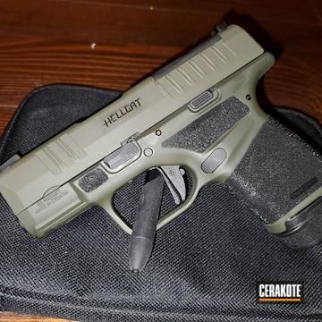 Springfield Armory Hellcat Pistol Cerakoted Using O.d. Green