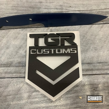 Tgr Custom Knife Cerakoted Using Kel-tec® Navy Blue