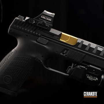 Cz P10c Pistol Cerakoted Using Graphite Black