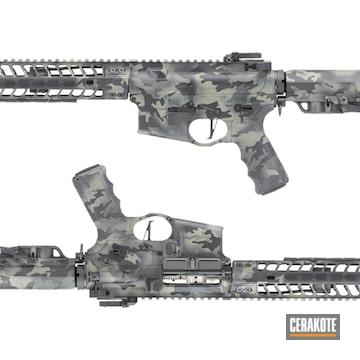 Custom Camo Ar Build Cerakoted Using Hazel Green, Sig™ Dark Grey And Graphite Black