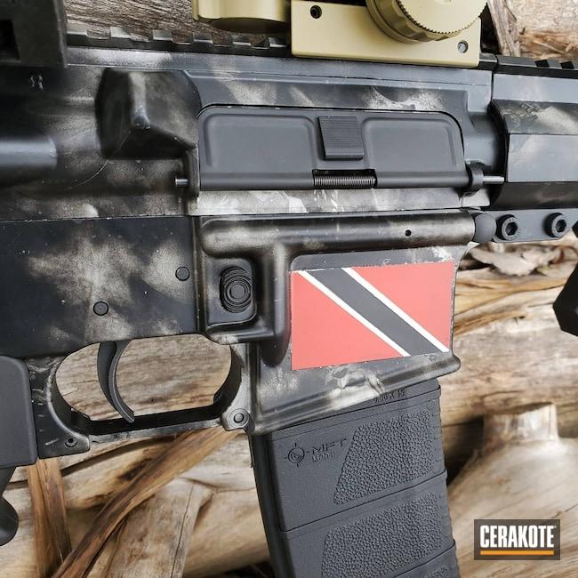 Cerakoted: S.H.O.T,Bright White H-140,AR Pistol,Anderson Mfg.,Graphite Black H-146,USMC Red H-167,.223,.223 Wylde,5.56
