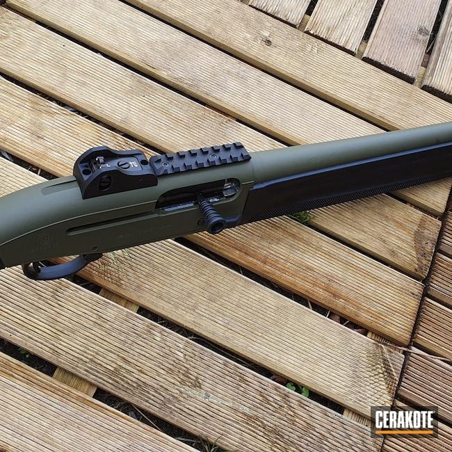 Cerakoted: S.H.O.T,Beretta 1301 Tactical,Sniper Green H-229,12 Gauge,Beretta
