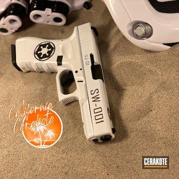 Star Wars Stormtrooper Themed Glock Cerakoted Using Stormtrooper White