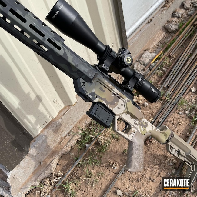 Cerakoted: S.H.O.T,Chassis,Howa,Heatseeker,Armor Black H-190,6.5 Grendel,SIG™ DARK GREY H-210,MultiCam Black,Coyote Tan H-235,MultiCam,Sniper Green H-229,Desert Sand H-199,MCMILLAN® TAN H-203,Mini Action,Multicam Arid