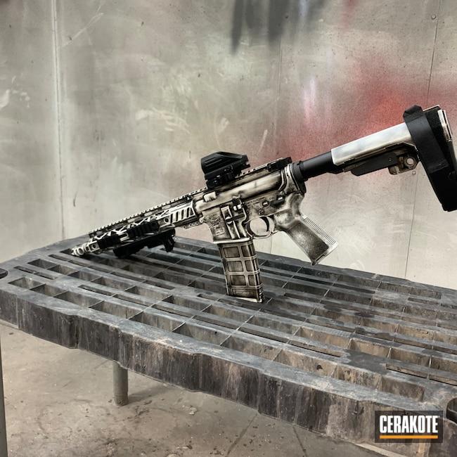 Cerakoted: S.H.O.T,Palmetto State Armory,AR Pistol,Battleworn,Graphite Black H-146,Stormtrooper White H-297,Worn,.223,AR Rifle,5.56,AR-15