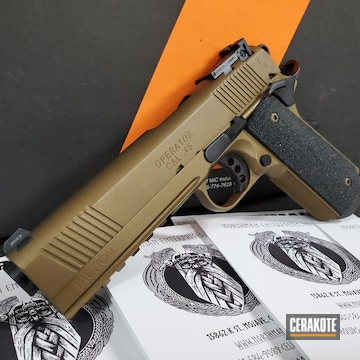 Springfield Armory 1911 Cerakoted Using Armor Black And Burnt Bronze