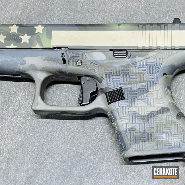 Cerakoted: Bright White H-140,S.H.O.T,Patriot Brown H-226,Armor Black H-190,Glock,O.D. Green H-236,CCW,Glock 43