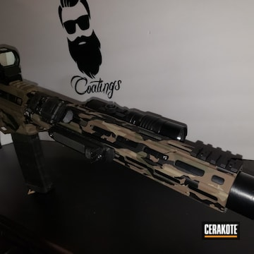 Multicam Ar Build Cerakoted Using Armor Black, Chocolate Brown And Magpul® Flat Dark Earth