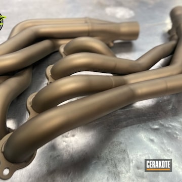 Headers Cerakoted Using Burnt Bronze