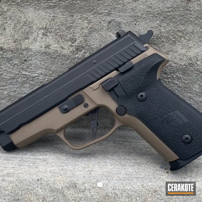 Cerakoted: S.H.O.T,Graphite Black H-146,P229,Sig Sauer,Flat Dark Earth H-265,.40