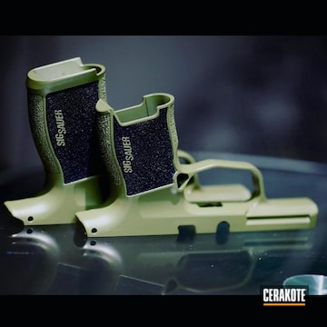 Sig Sauer Frames Cerakoted Using Noveske Bazooka Green