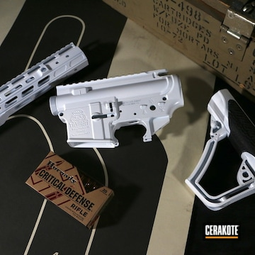 Palmetto State Amory Ar Builders Set Cerakoted Using Stormtrooper White