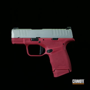Springfield Armory Hellcat Pistol Cerakoted Using Sig™ Pink And Shimmer Aluminum