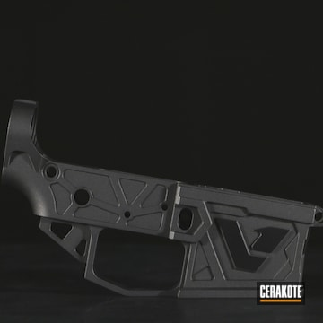 Ar Lower Cerakoted Using Graphite Black And Tungsten