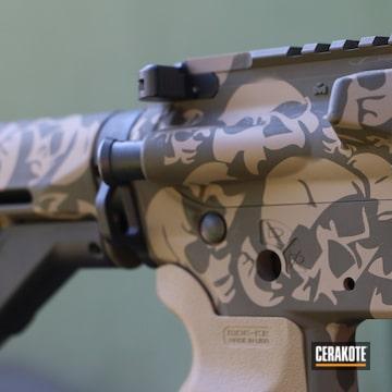 Skull Camo Ar-15 Cerakoted Using Desert Sand And Glock® Fde