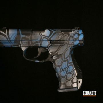 Kryptek Camo Smith & Wesson Pistol Cerakoted Using Ridgeway Blue, Sniper Grey And Battleship Grey