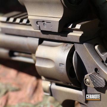 Antique Smith & Wesson Revolver Cerakoted Using Vortex® Bronze And Burnt Bronze