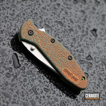 Kershaw Knife Cerakoted Using Hunter Orange