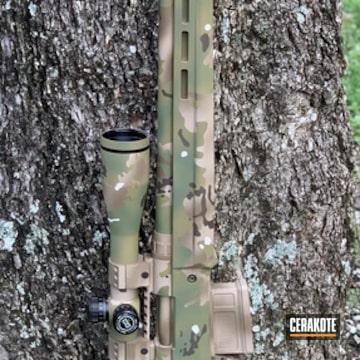 Custom Camo Remington 700 Rifle Cerakoted Using Desert Sand