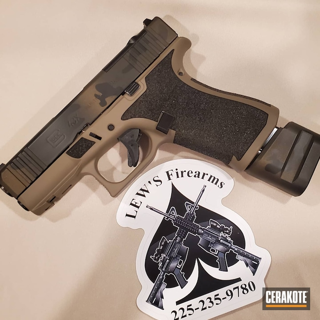 Cerakoted: S.H.O.T,Glock 43X,MAGPUL® FLAT DARK EARTH H-267,Graphite Black H-146,MAGPUL® O.D. GREEN H-232,Midnight Bronze H-294