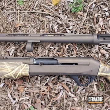 Benelli Super Black Eagle 2 Shotgun Cerakoted Using Midnight Bronze