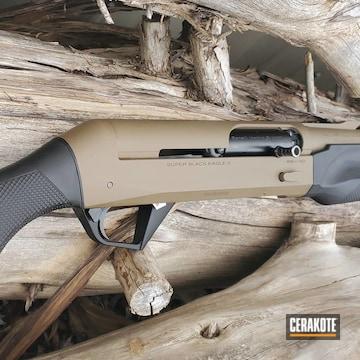 Benelli Super Black Eagle 2 Shotgun Cerakoted Using Glock® Fde And Graphite Black