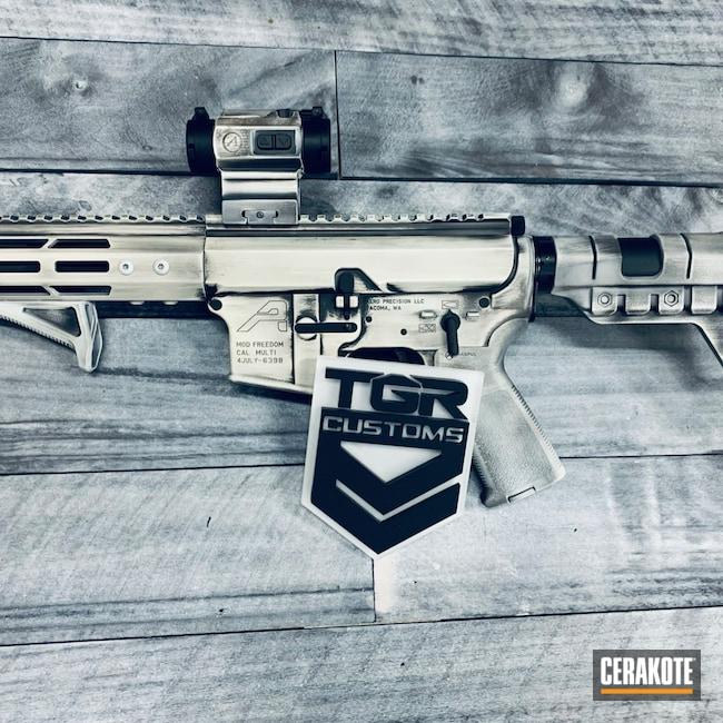 Cerakoted: S.H.O.T,AR Pistol,Snow White H-136,Graphite Black H-146,Imperial,Star Wars