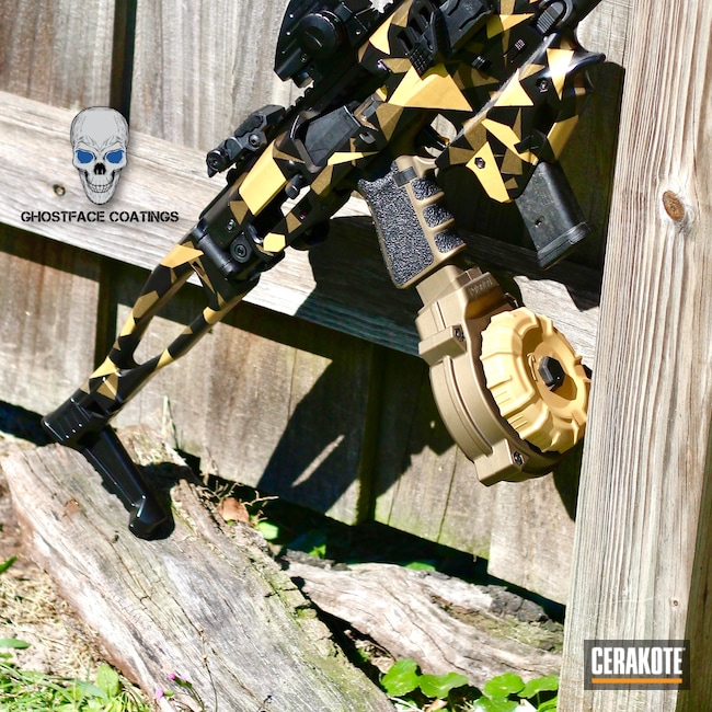 Cerakoted: S.H.O.T,CAA Tactical,MCK,Gloss Black H-109,Burnt Bronze H-148,MATTE ARMOR CLEAR H-301,Glock,G17,.9,Gold H-122