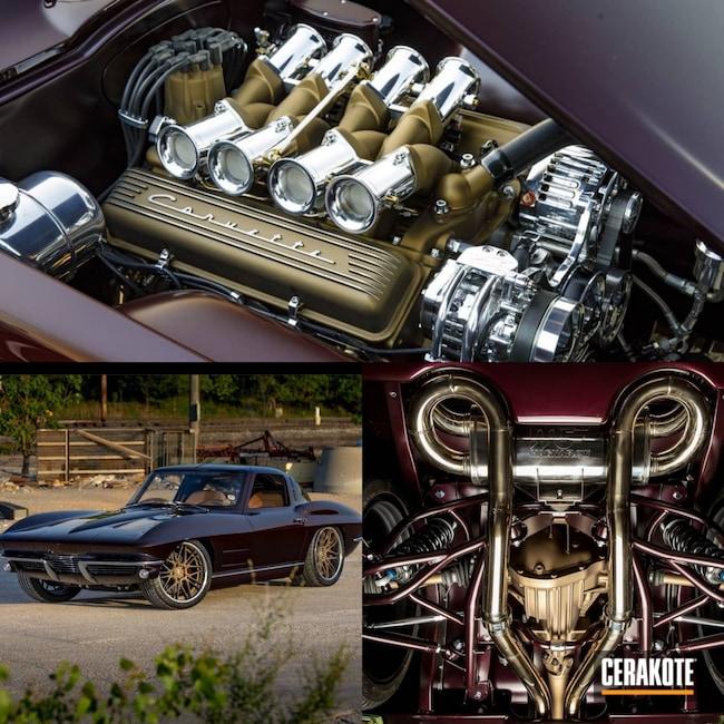 Cerakoted: Aluminum Wheels,Exhaust,Burnt Bronze C-148,Corvette,Muscle Car,Engine,Valve Covers,Automotive,Transmission,Hot Rod