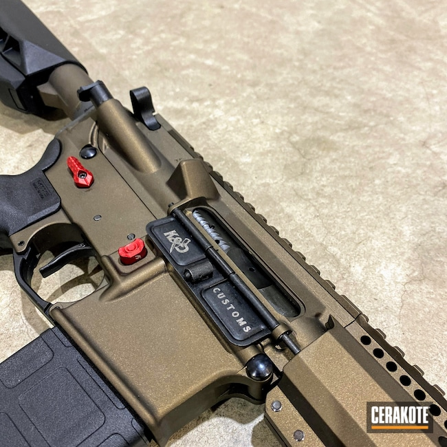 Cerakoted: S.H.O.T,Upper / Lower / Handguard,Custom Built,Firearms,Midnight Bronze H-294,AM-15,AR-15