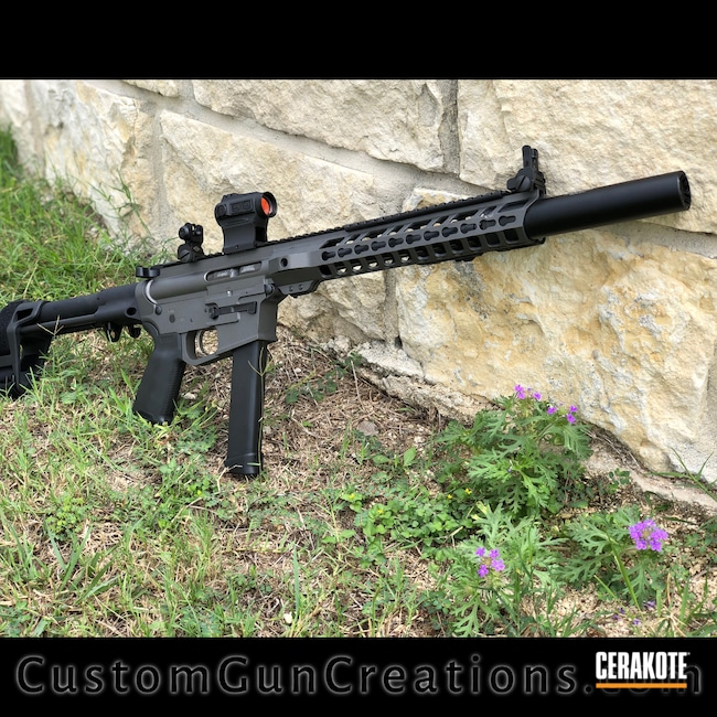Cerakoted: S.H.O.T,9mm,AR,Tungsten H-237,AR9