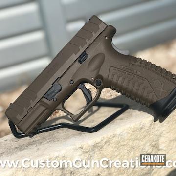 Springfield Armory Xd-m Pistol Cerakoted Using Vortex® Bronze