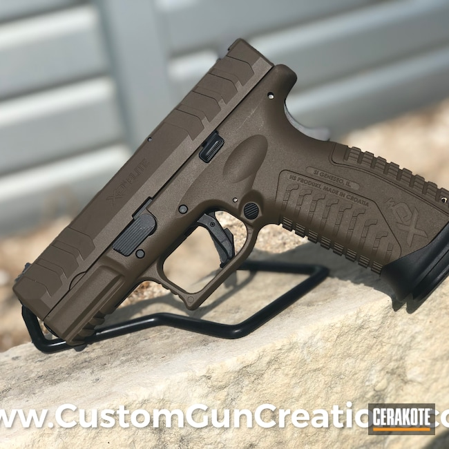 Cerakoted: S.H.O.T,VORTEX® BRONZE H-293,Pistol,Springfield Armory,XDm