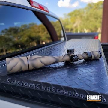 Custom Camo Scope Cerakoted Using Armor Black And Magpul® Flat Dark Earth