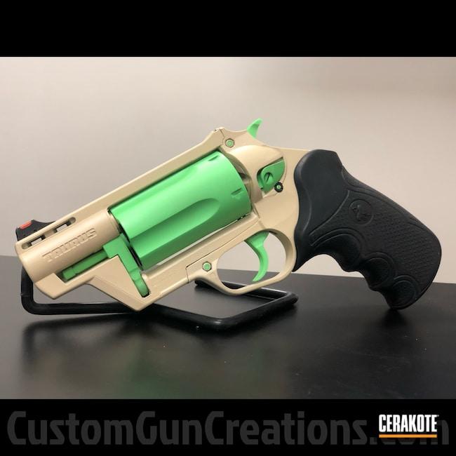 Cerakoted: S.H.O.T,Taurus Revolver,Ugly,Revolver,Judge,BENELLI® SAND H-143,PARAKEET GREEN H-331,Taurus