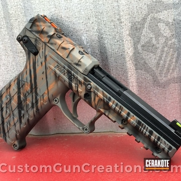 Kel-tec Pmr-30 Pistol Cerakoted Using Armor Black, Terra Cotta And Bull Shark Grey
