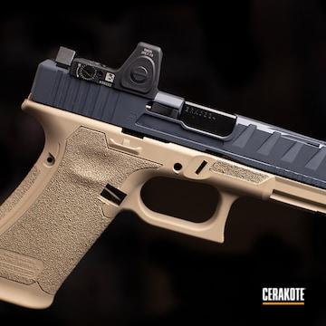 Cerakoted Two Tone Glock 45 In H-203 And H-130
