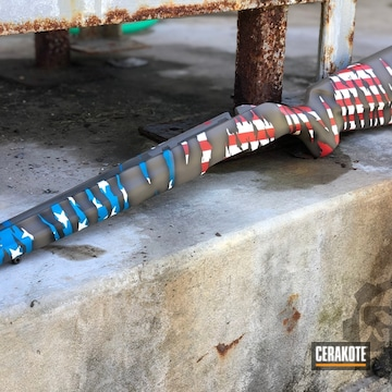 Cerakoted American Flag Themed Rifle Stock