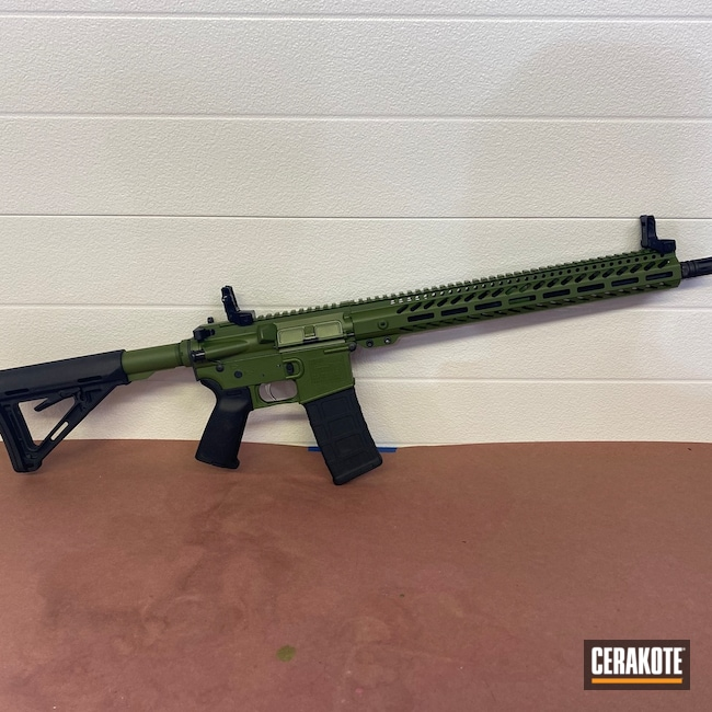 Cerakoted: MULTICAM® BRIGHT GREEN H-343,.223,AR Rifle,AR-15