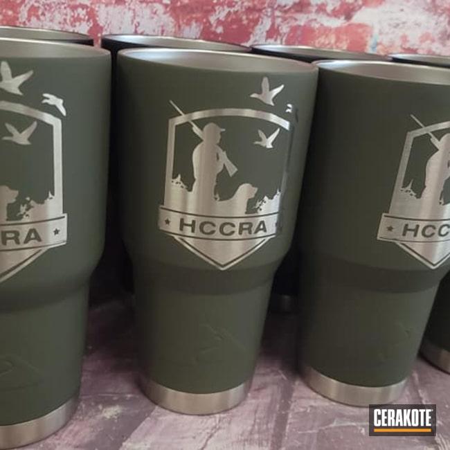 Cerakoted: Drinkware,30 oz Tumbler,Ozark Trail Tumbler,O.D. Green H-236,Custom Logos,Tumbler,Custom Tumblers