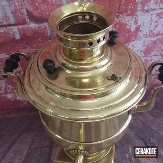 Cerakoted: Gloss Clear,Drinkware,Samovar Tea Pot,Russian,HIGH GLOSS CERAMIC CLEAR MC-160,Brass,Kitchen