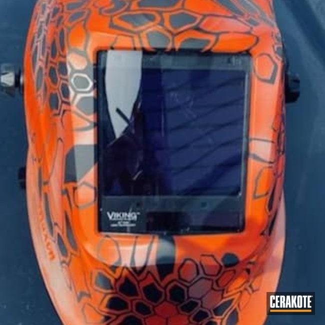 Cerakoted: Kryptek,Kryptek Helmet,Graphite Black H-146,Welding Helmet,Helmet,Welding,Hunter Orange H-128,Bright Nickel H-157
