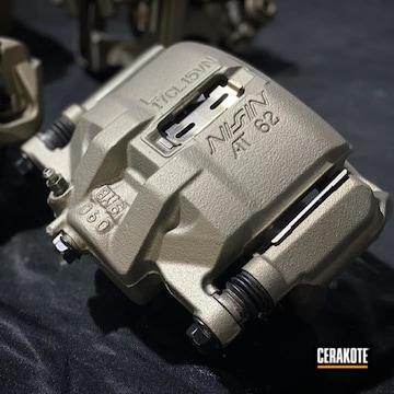 Brake Calipers Cerakoted Using Titanium
