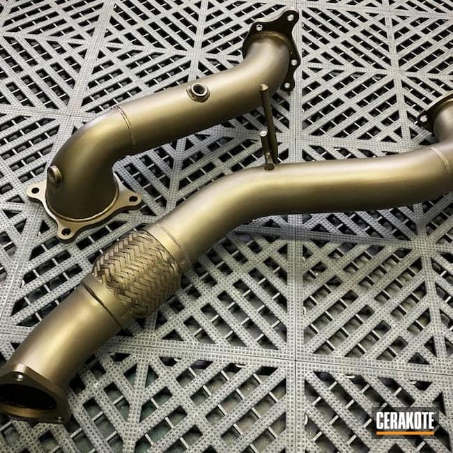 Cerakoted: Burnt Bronze C-148,Automotive,Exhaust Pipes
