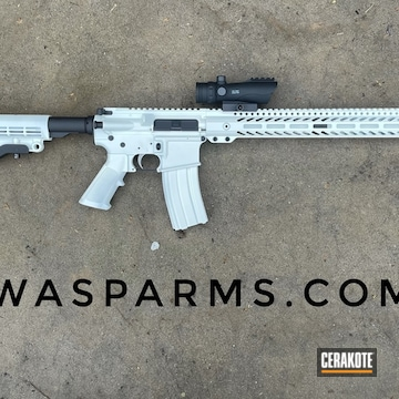 Ar-15 Cerakoted Using Stormtrooper White And Graphite Black