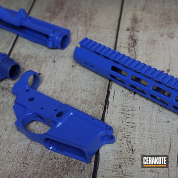 Anderson Manufacturing Ar Builders Set Cerakoted Using Nra Blue