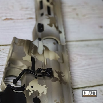 Arid Multicam Savage Arms Msr-15 Cerakoted Using Patriot Brown, Chocolate Brown And Benelli® Sand